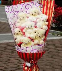 11 adet pelus ayicik buketi  Giresun çiçek mağazası , çiçekçi adresleri