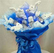 7 adet pelus ayicik buketi  Giresun çiçek servisi , çiçekçi adresleri