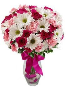 Giresun yurtiçi ve yurtdışı çiçek siparişi  Karisik mevsim kir çiçegi vazosu