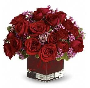 11 adet kırmızı gül vazosu  Giresun çiçek yolla , çiçek gönder , çiçekçi