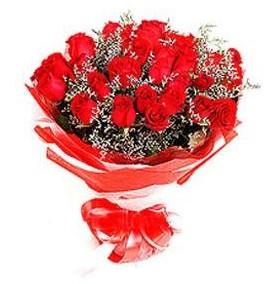 Giresun internetten çiçek satışı  12 adet kırmızı güllerden görsel buket