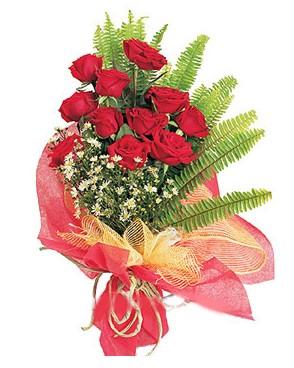 Giresun cicekciler , cicek siparisi  11 adet kırmızı güllerden buket modeli