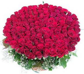 Giresun online çiçek gönderme sipariş  100 adet kırmızı gülden görsel buket
