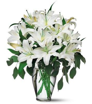 Giresun online çiçekçi , çiçek siparişi  4 dal kazablanka ile görsel vazo tanzimi