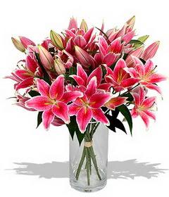 4 dal cazablanca görsel vazosu  Giresun güvenli kaliteli hızlı çiçek