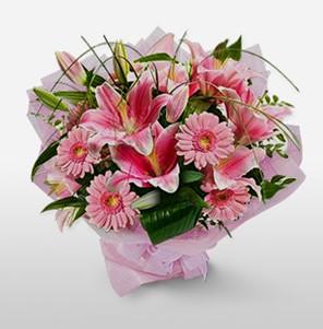 1 dal kazablanka ve kır çiçek görsel buketi  Giresun online çiçekçi , çiçek siparişi