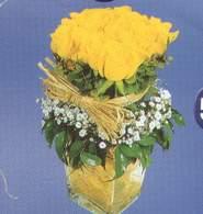 Giresun ucuz çiçek gönder  Cam vazoda 9 Sari gül
