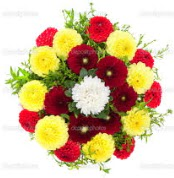 Giresun güvenli kaliteli hızlı çiçek  13 adet mevsim çiçeğinden görsel buket