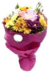 1 demet karışık görsel buket  Giresun ucuz çiçek gönder