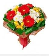 1 demet karışık buket  Giresun hediye çiçek yolla