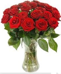 Giresun internetten çiçek satışı  Vazoda 15 adet kırmızı gül tanzimi