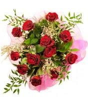 12 adet kırmızı gül buketi  Giresun çiçek , çiçekçi , çiçekçilik