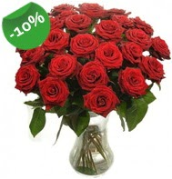 Vazo içerisinde 25 adet kırmızı gül  Giresun çiçek gönderme