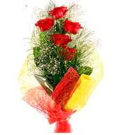5 li kırmızı gül buketi  Giresun online çiçekçi , çiçek siparişi