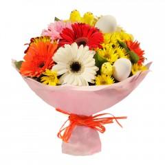 Karışık mevsim buketi Mevsimsel çiçek  Giresun İnternetten çiçek siparişi