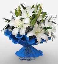 4 dal kazablanka çiçeğinden buket  Giresun çiçek gönderme