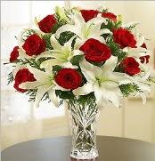 12 adet kırmızı gül 2 dal kazablanka vazosu  Giresun çiçek online çiçek siparişi