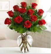 Vazo içerisinde 12 kırmızı gül  Giresun çiçek online çiçek siparişi