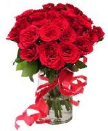21 adet vazo içerisinde kırmızı gül  Giresun çiçek online çiçek siparişi