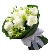 9 adet beyaz gül buketi  Giresun yurtiçi ve yurtdışı çiçek siparişi