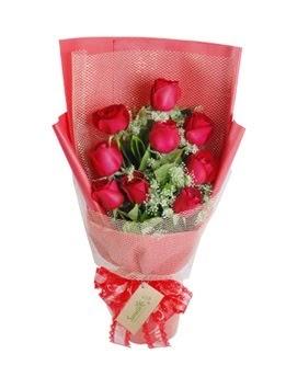 9 adet kırmızı gülden görsel buket  Giresun çiçek mağazası , çiçekçi adresleri
