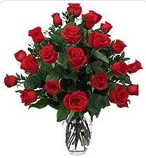 Giresun yurtiçi ve yurtdışı çiçek siparişi  24 adet kırmızı gülden vazo tanzimi