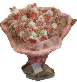 12 adet tavşan buketi  Giresun internetten çiçek satışı