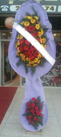 Çift katlı nikah düğüne çiçek modeli  Giresun İnternetten çiçek siparişi
