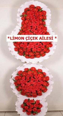 3 katlı kırmızı düğün açılış çiçeği  Giresun anneler günü çiçek yolla