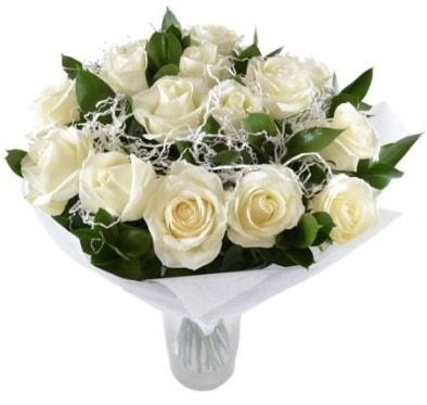 15 beyaz gül buketi sade aşk  Giresun çiçek online çiçek siparişi