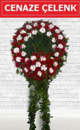 Kırmızı Beyaz Çelenk Cenaze çiçeği  Giresun cicekciler , cicek siparisi