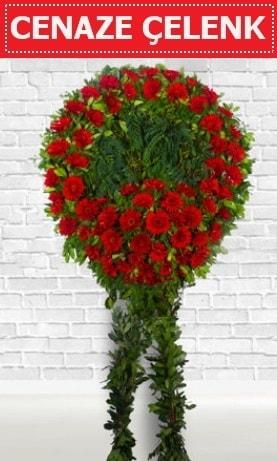 Kırmızı Çelenk Cenaze çiçeği  Giresun cicekciler , cicek siparisi