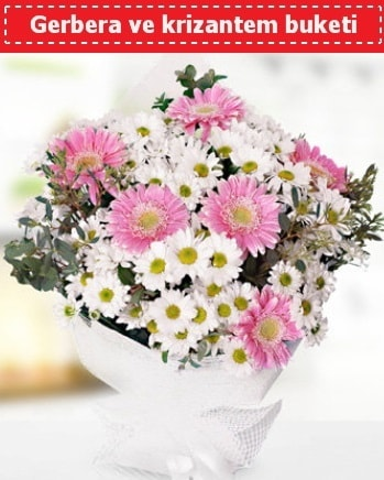 Papatya ve Gerbera Buketi  Giresun çiçek servisi , çiçekçi adresleri