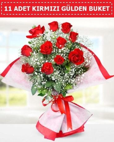 11 Adet Kırmızı Gül Buketi  Giresun İnternetten çiçek siparişi
