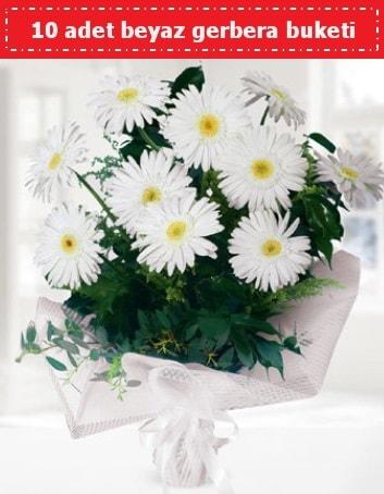 10 Adet beyaz gerbera buketi  Giresun çiçek servisi , çiçekçi adresleri
