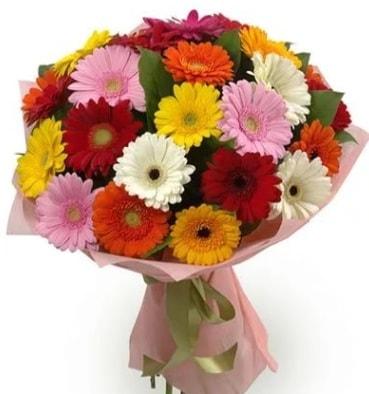 Karışık büyük boy gerbera çiçek buketi  Giresun çiçek online çiçek siparişi