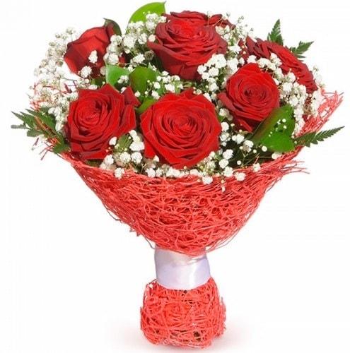 7 adet kırmızı gül buketi  Giresun çiçek yolla , çiçek gönder , çiçekçi